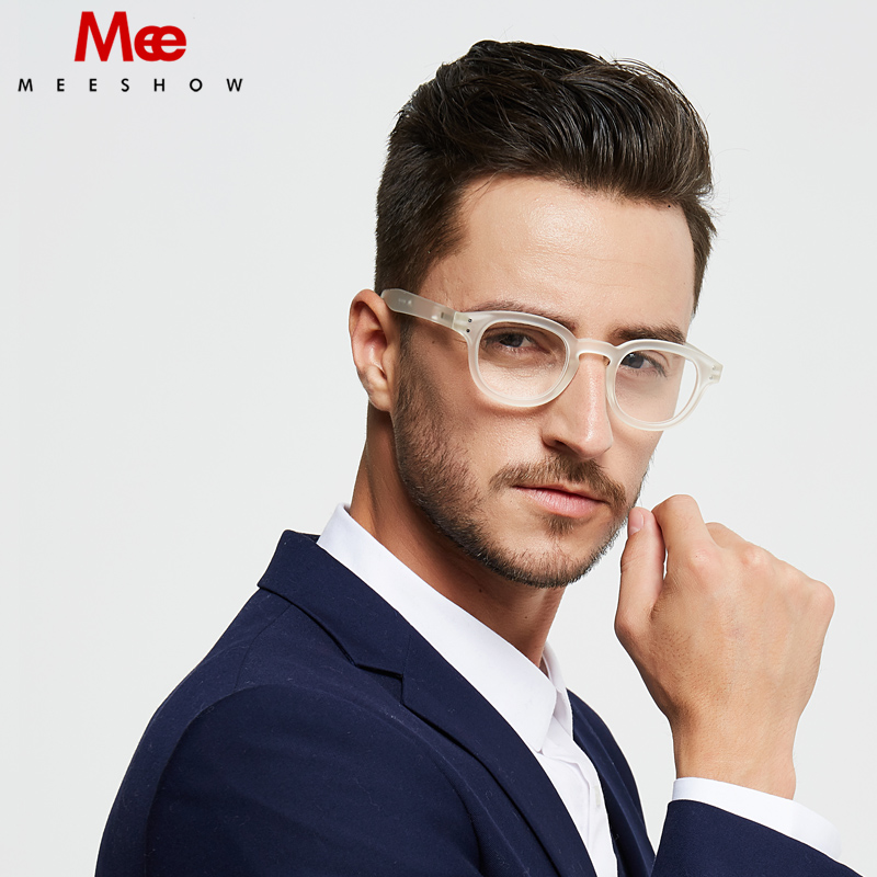 Meeshow Transparent Reading Glasses Man Retro Eye Glasses French Style Woman Leesbril With Diopter 0.0 +1.0 +1.75 +2.0 +4.0 1513