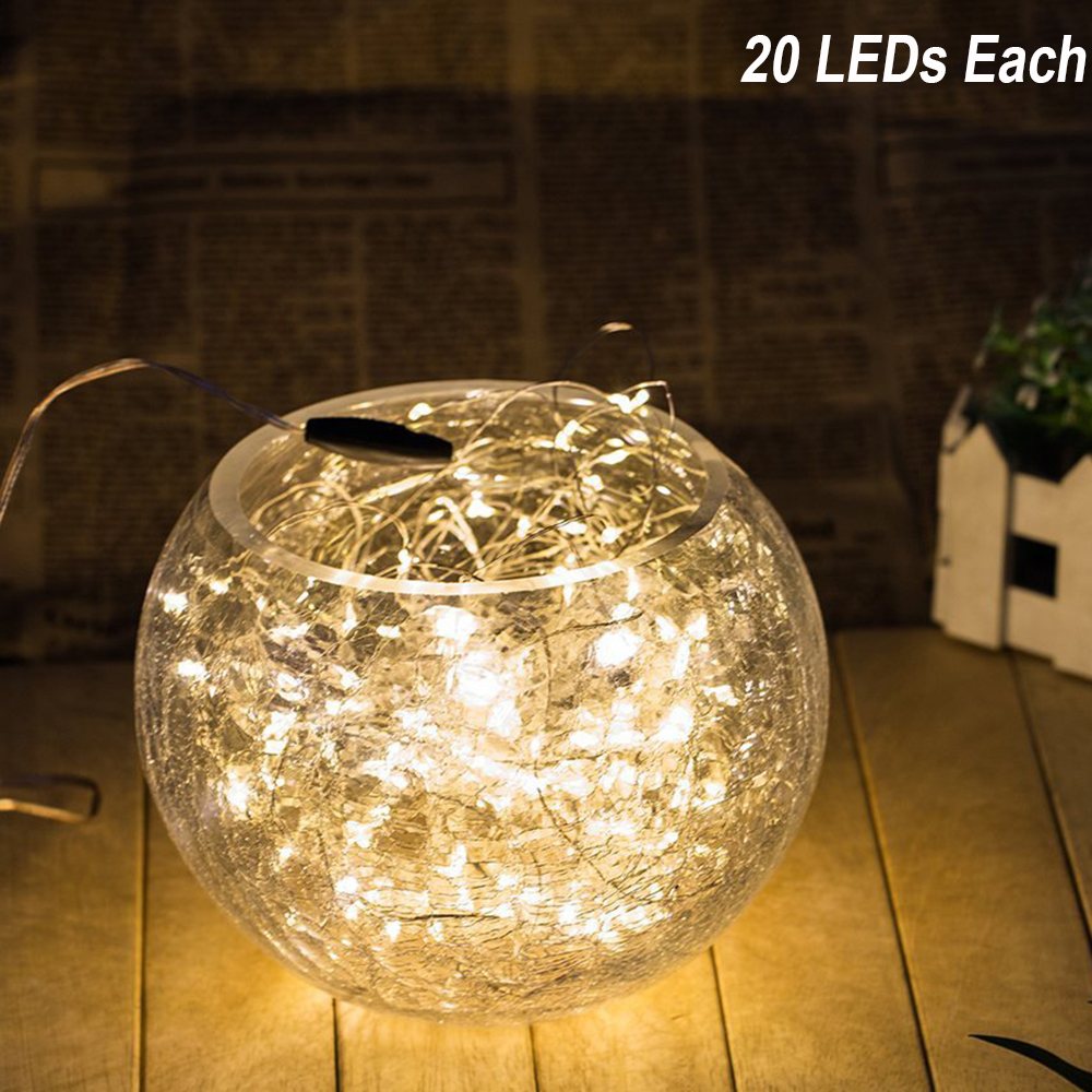 20LEDs 2m LED String Lights Xmas Christmas Decoration Waterproof Led Fairy Lights 9 Colors For Party Wedding Battery zk40