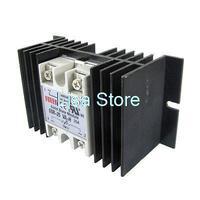 New Solid State Relay Voltage Resistance Regulator SSR 25A 90 480V AC + Heatsink