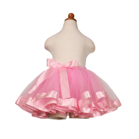 Girls Rainbow Tutu Dance Layered Skirt Rave Halloween Party Ballet Princess Dress Pink