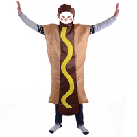 Food Fun Fancy Dress HOT DOG Hot Dog Costume Halloween Party Dress Up Suit Open Face