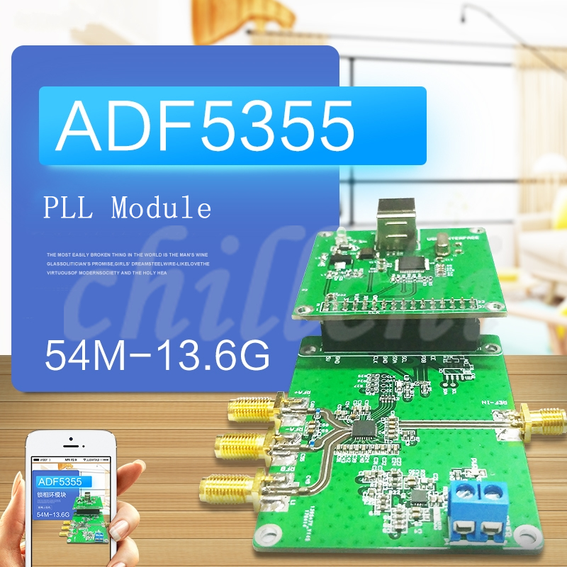 Radio Frequency Signal Source 54M 13.6G for ADF5355 Phase Locked Loop Module of Official Computer-in Integrated Circuits from Electronic Components & Supplies    1