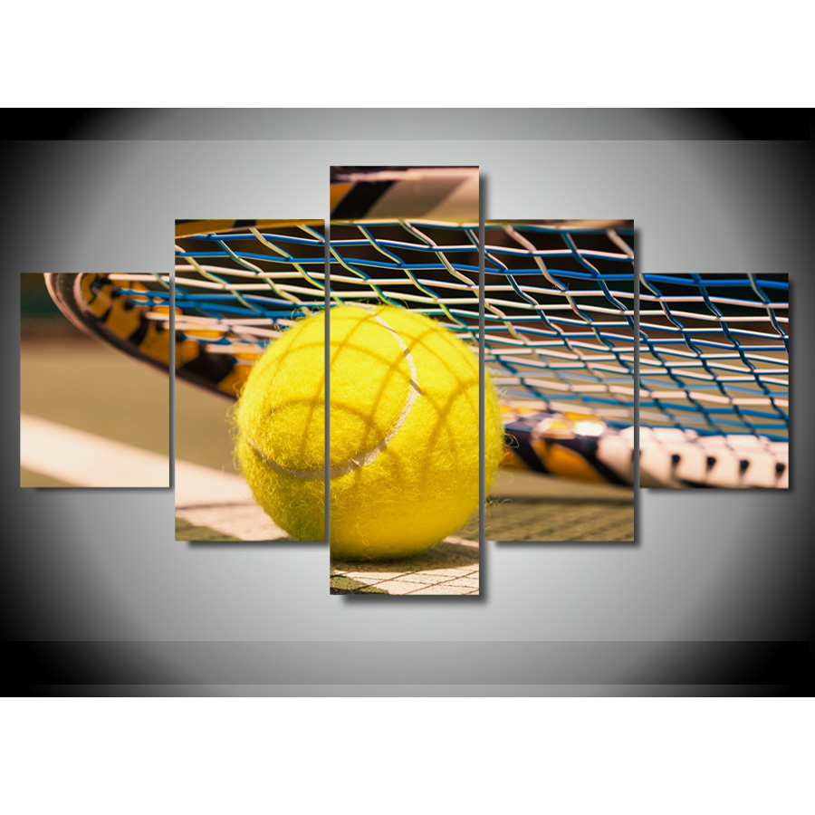 5 Panel Print Custom Canvas room decor wall art HD tennis picture ...