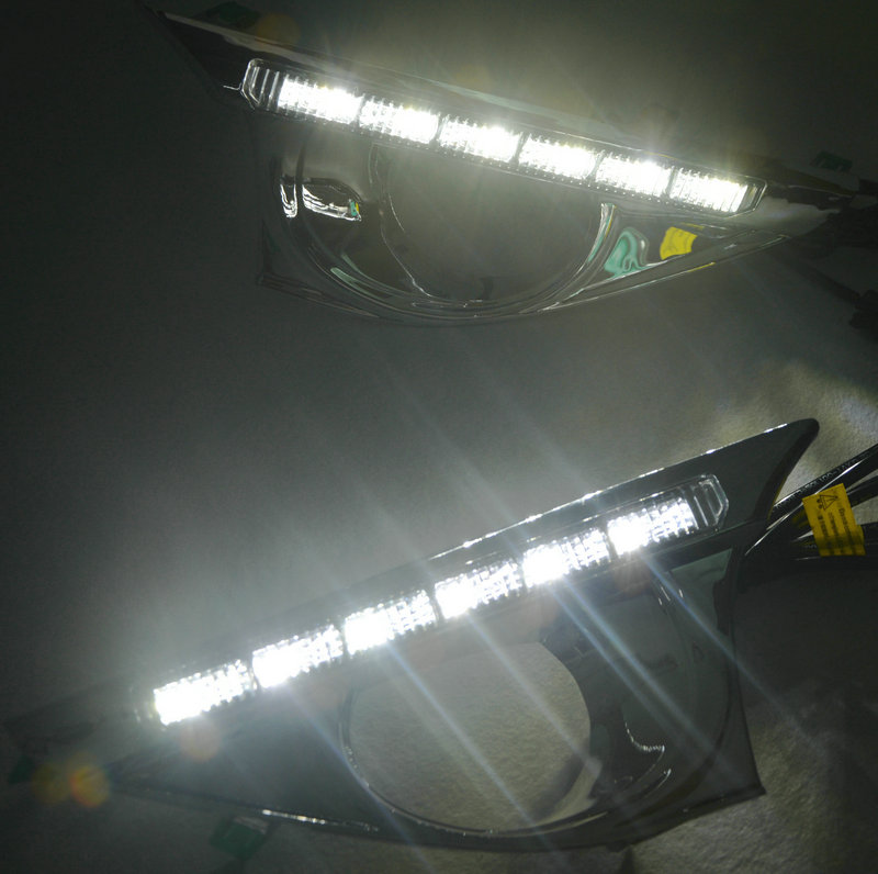 2Pcs/Pair LED DRL For Toyota Camry 2012-2014 Daytime Running Lights Daytime Running Light With Lamp Turn Signal Relay