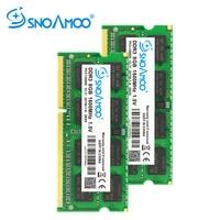 SNOAMOO DDR3 8GB 1333/1600 MHz memoria Ram Notebook Memory PC3 10600S 204 Pin 1.5V 2Rx8 SO DIMM Computer Memory Warranty