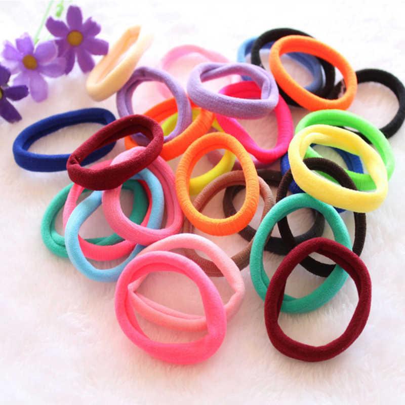 50Pcs Women Girls Hair Band Ties Rope Ring Elastic Hairband Ponytail Holder Dw