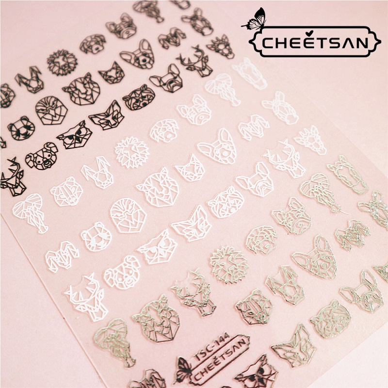 Newest TSC-144 3d nail art sticker nail decal Nail decoration decal tool