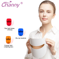 Channy LED Facial Phototherapy Mask Light Skin Care Rejuvenation Wrinkle Acne Removal Face Beauty Spa