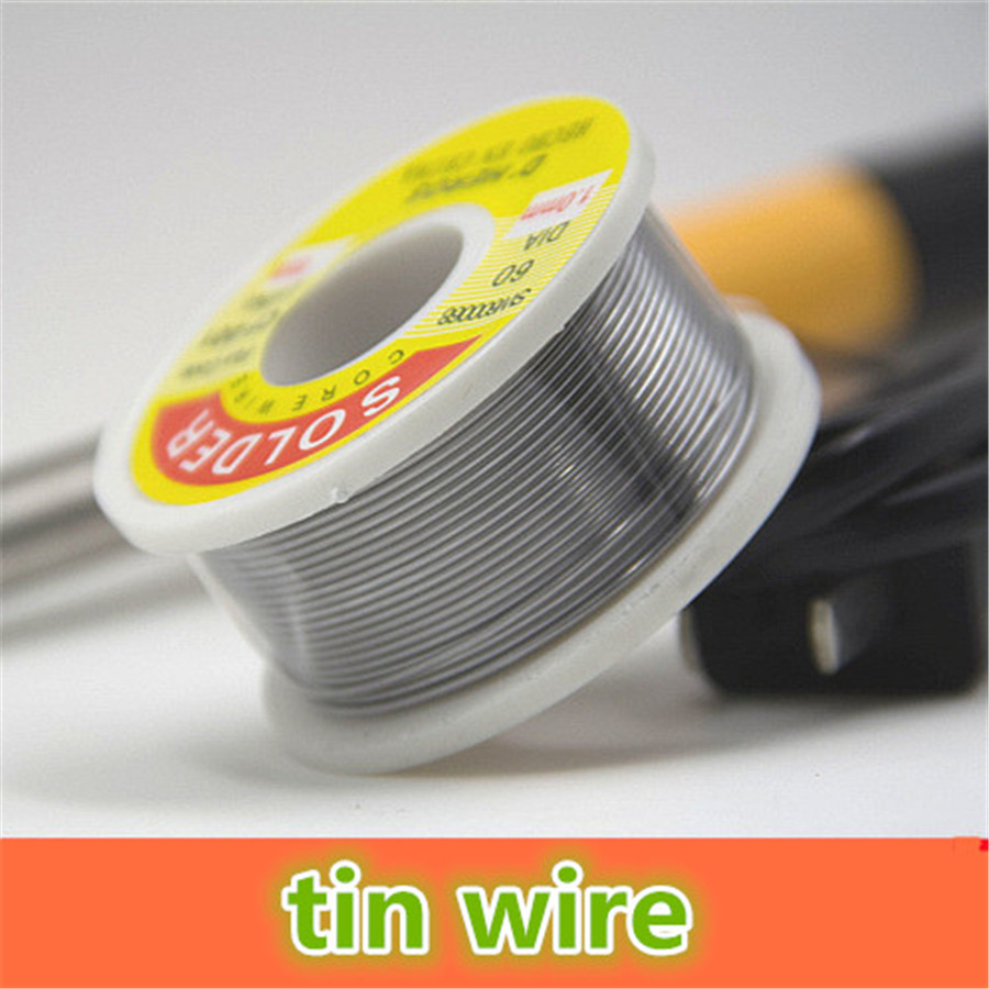 About 100g/roll K858 Disposable Leaded Tin Wire High Glossiness Soldering Tin Wires 1mm Line Diameter Free Shipping Russia
