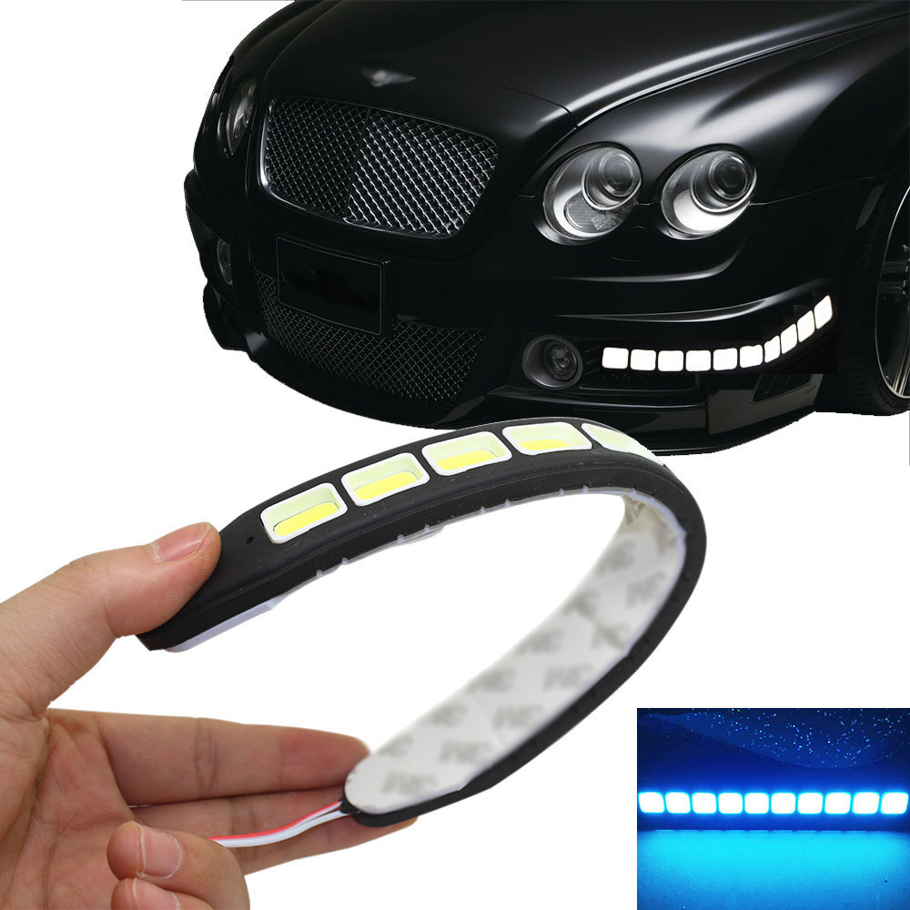 2pcs Square 21cm Bendable Led Daytime Running light 100% Waterproof - Car Lights - Photo 2