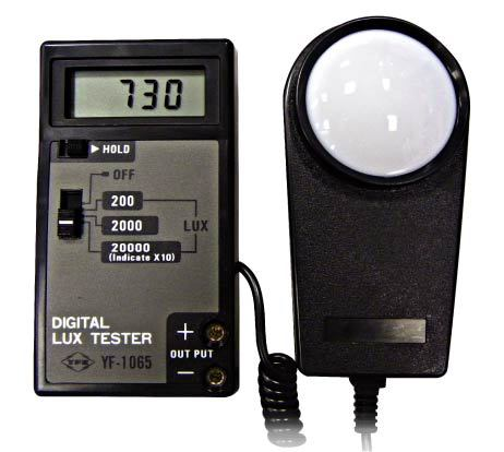 Digital Light Meter YF-1065  Best quality and cheaper price, 0-20000 Lux 5pcs lot 5 0l pvf gas sampling bag with ptfe valve for corrosive gas or vocs sampling