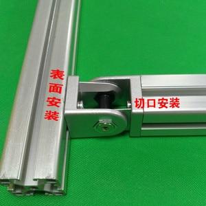 Image 2 - 2020/3030/4040/4545 Zinc alloy living hinge Aluminum profile fittings Right angle Zinc Alloy Flexible Pivot Joint connector