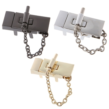 THINKTHENDO Bag Button Rectangle Handbag Twist Lock DIY Craft Case Clasp Metal Buckle Switch