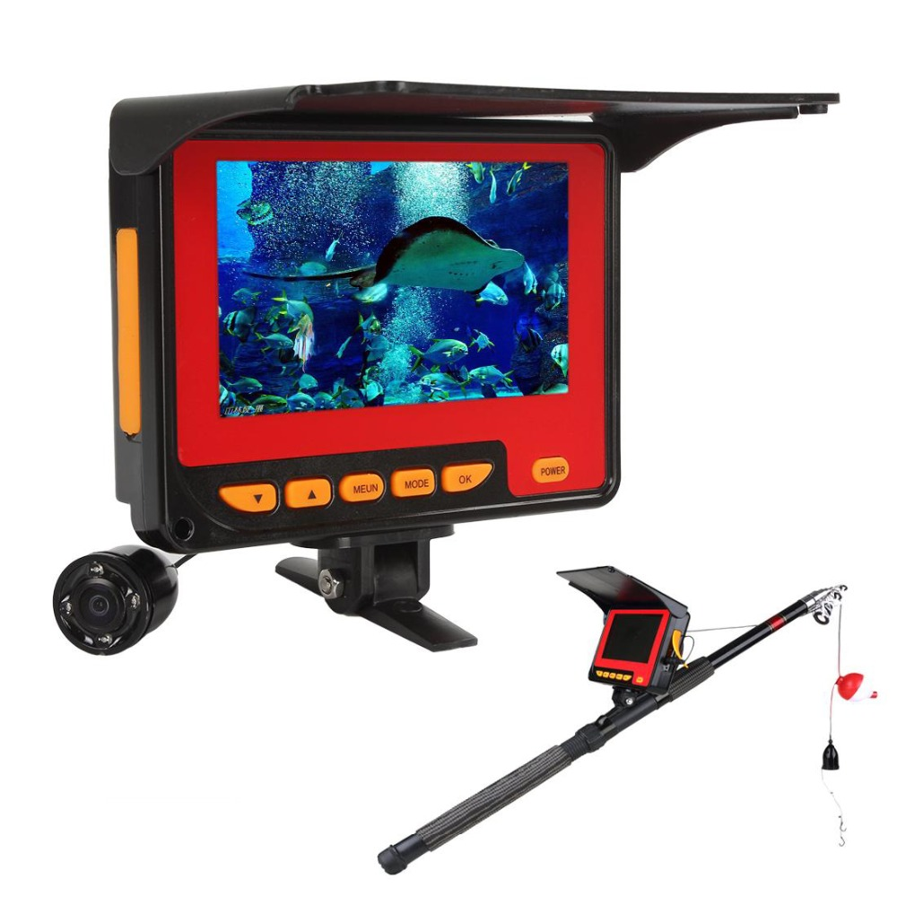 Portable 720P ice Underwater Camera Fishing Finder Video Fishfinder 4.3 inch LCD Monitor 20m Cable