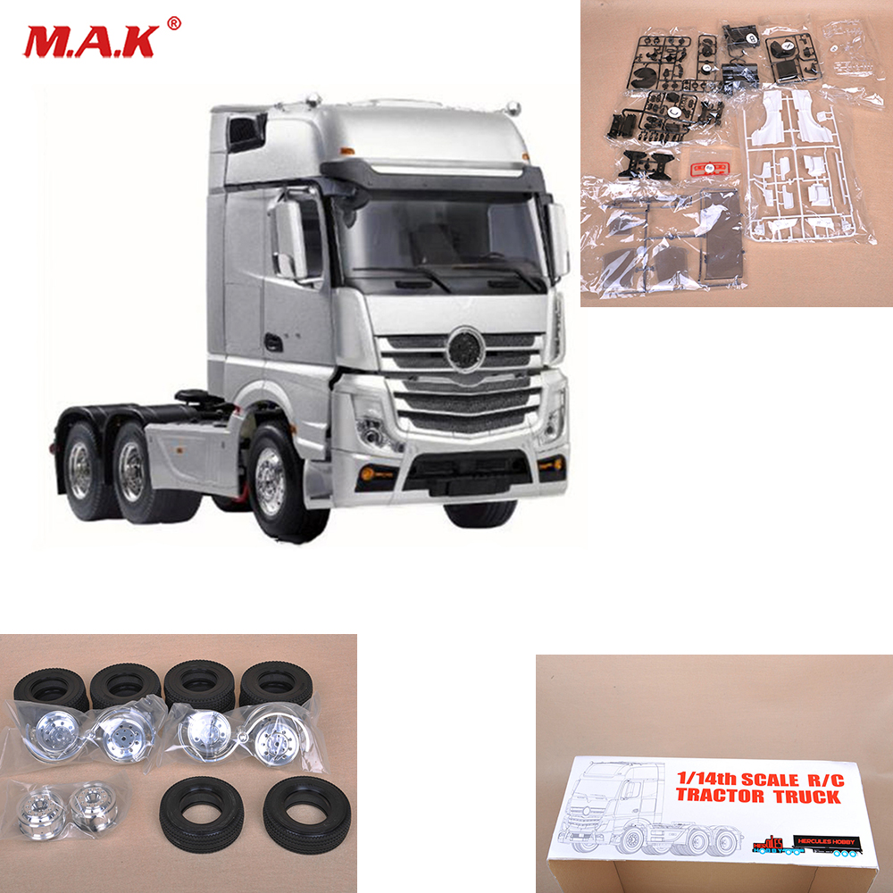 1/14 RC 3 Axles Triaxial Tractor Truck Car Parts and Accessory 3 Speed Transmion TRAILE 401 Hauler Assembly Kit Set jd 57 1 14 truck head latch assembly