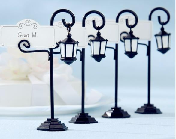 Factory Fast Delivery Free Shipping 100pcs/lot Wedding Favor Bourbon Street Streetlight Place Card Holder Wholesale