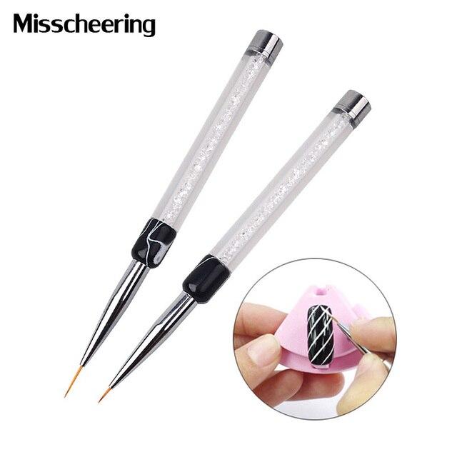 1pcs Professional New Design Salon Using Nail Art Flower Painting Brush Pen 7mm/14mm Long Nail Tools