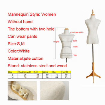 Flexible Women Mannequin Body With Cotton Fabric Clothing Store Display Maquillaje Without Hand For Clothing designer S on Stock