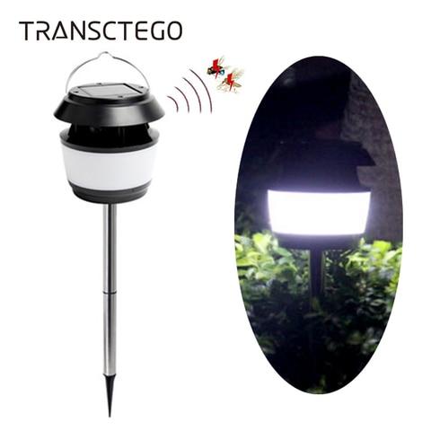 movido a energia solar luz de rua lampada do jardim ultrasonic repelente de insetos a