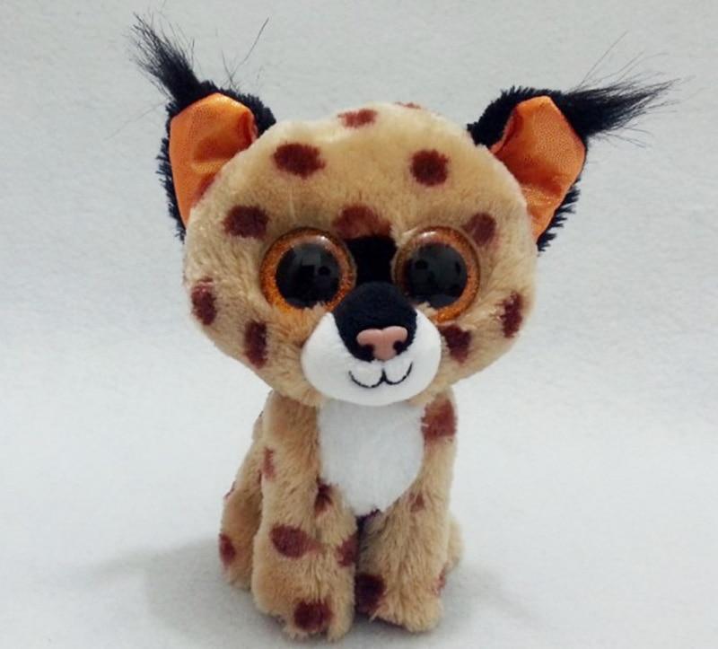 f48ec74103e New Original Ty Beanie Boos Big Eyed Stuffed Animal Buckwheat brown lynx  Plush Doll Kids Toy 6   15cm Birthday Gift-in Stuffed   Plush Animals from  Toys ...