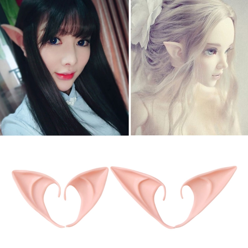 Halloween Party Elven Elf Ears Anime Fairy Cospaly Costumes Vampire Latex 1 Pair