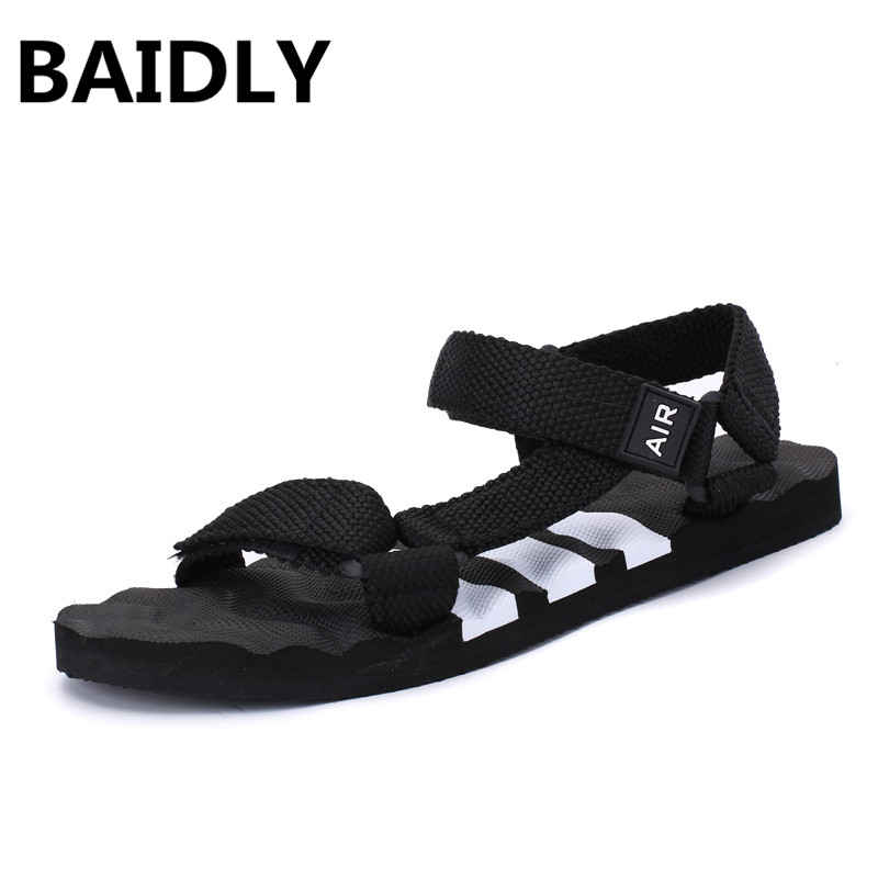 BAIDLY Men Summer Sandals New Adult Outdoor Beach Sandals Comfortable Non-slip Male Water Shoes Breathable Slippers(China)