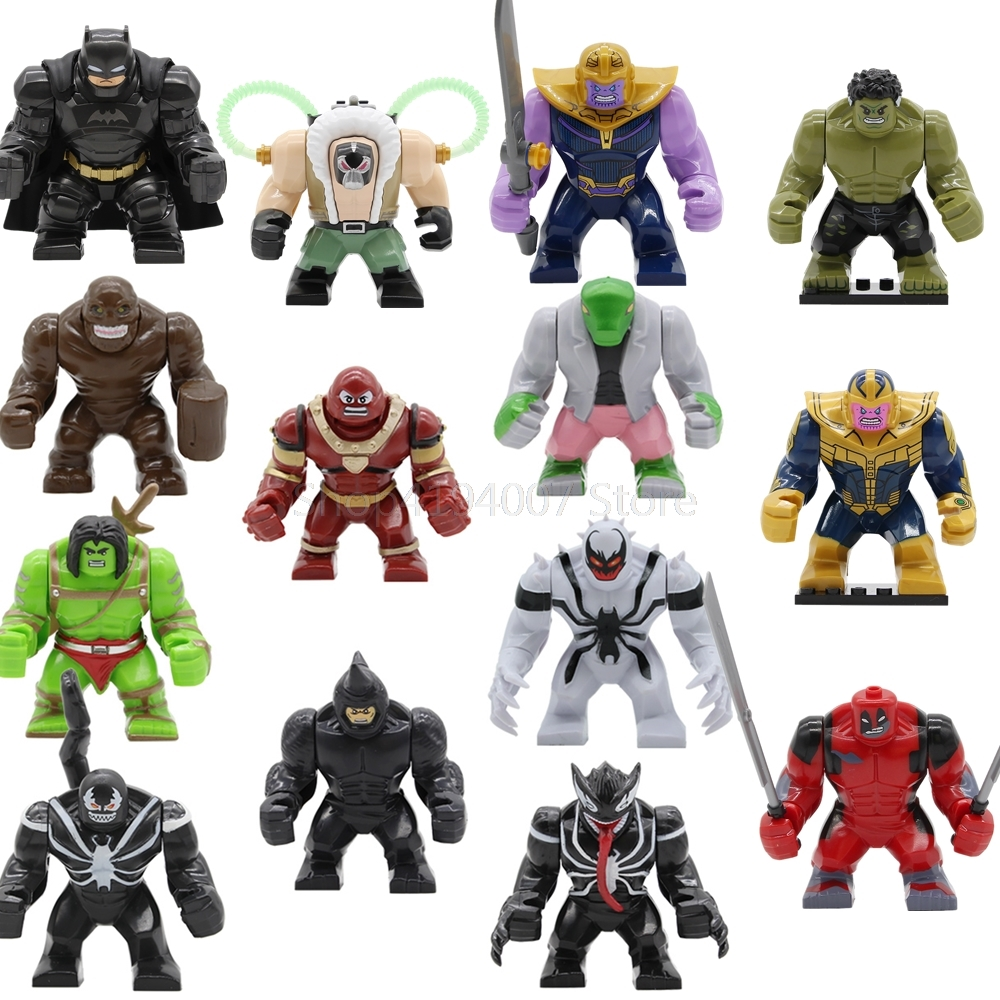 Super Hero Big 7cm Clayface Rhino Skaar Lizard Juggernaut Anti-Venom Wolverine Avengers Batman Building Blocks Set bricks Toys