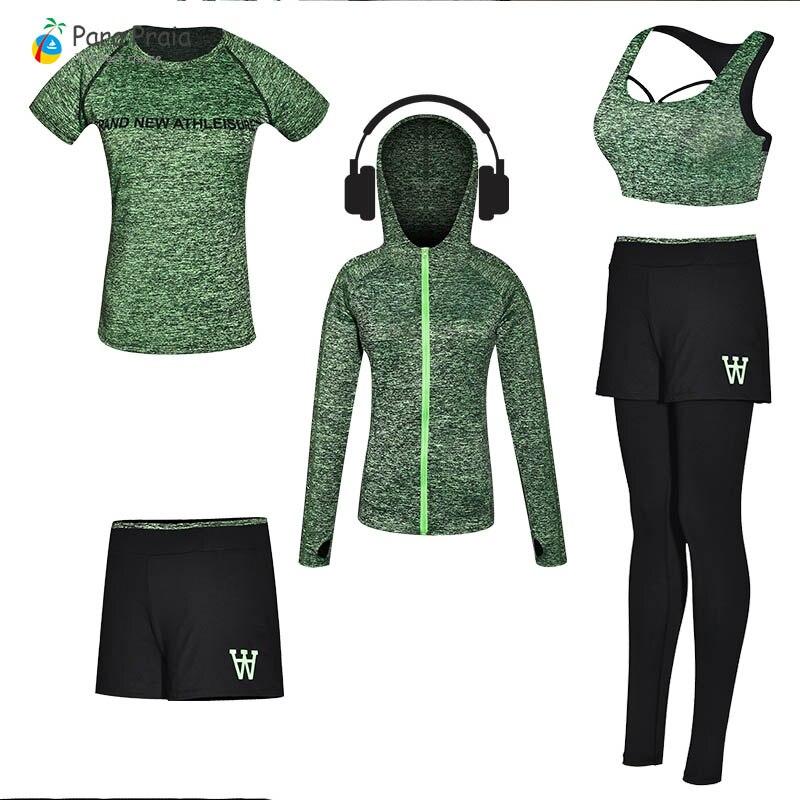Para Praia 2019 nouveaux vêtements pour femmes Gym pour femmes vêtements de Fitness survêtement pour femmes entraînement Yoga ensemble Jogging porter haut court
