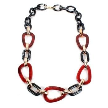 Ziris fashion power Leather cord statement necklace