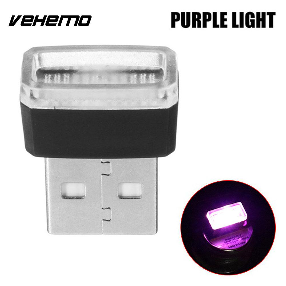 Vehemo Волшебные светодиодные фонарики атмосферный Свет Usb светодиодный свет автомобильное освещение беспроводной мини банк питания