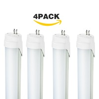 4 Pack 120cm Led Lamp 4FT T5 20W 2835 Chip LED Light 40W Fluorescent Tube Replacement 5500K Daylight White 1200mm Light Bulb