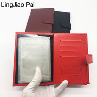LingJiao Pai Russian PU Leather Multiple Car Driving Lisence Cards Cover Wallet Cute Popular Driver S