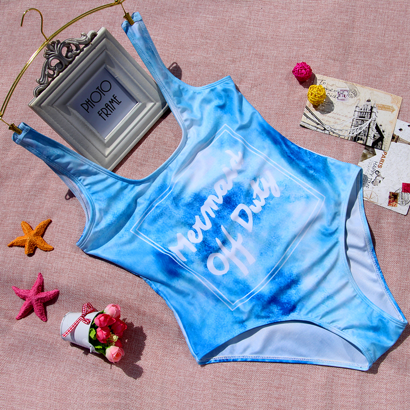 2018 Nők egyrészes szexi bikini készlet levél fürdőruha nyomtatás fürdőruha fürdés nyári strand öltöny S M L XL