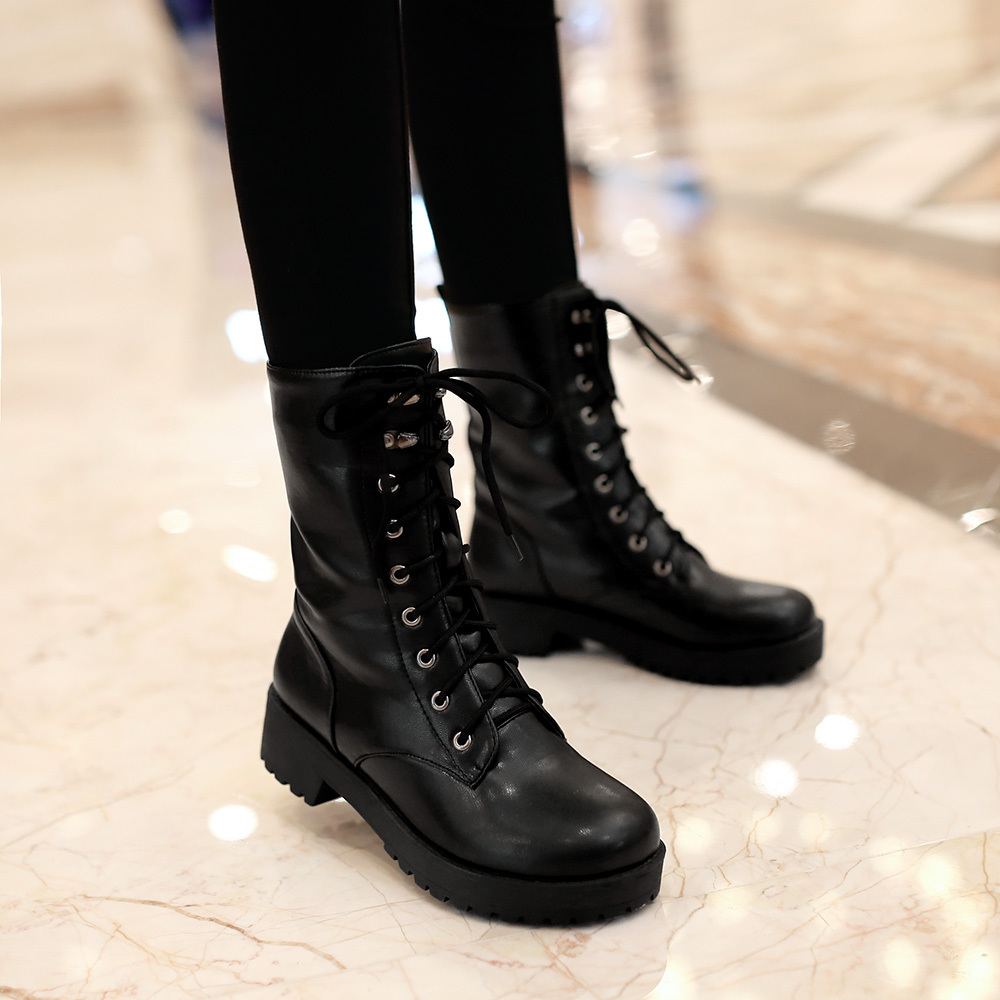 Online Get Cheap Womens Leather Combat Boots -Aliexpress.com ...