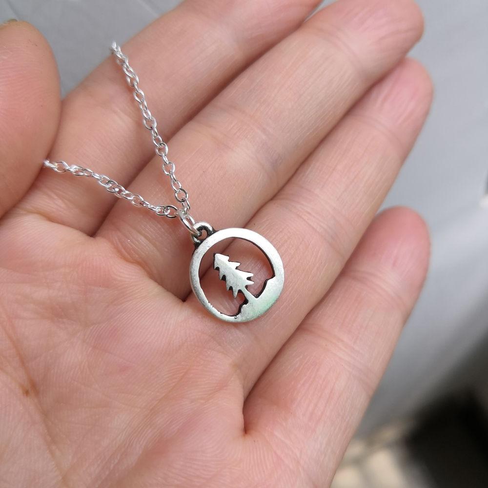 SanLan 1 шт., античное посеребренное высококачественное ожерелье с сосновым деревом, натуральное ожерелье с деревом жизни, ювелирные изделия для пустыни