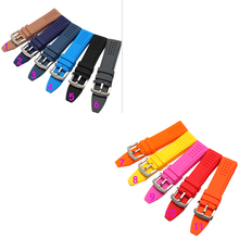 New Arrivals 24mm Hot sale Men Women Black 11 colors Silicone Rubber Watchband Strap watch Band