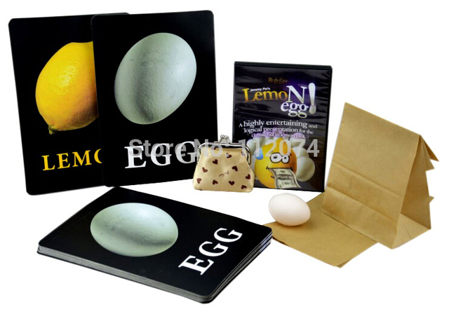 LemoNegg 2.0 - Magic Tricks,Classic Bill In Lemon Plot Tricks,Stage,Gimmick,Comedy,Props,Accessories