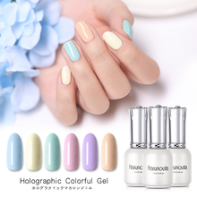 Harunouta 12ml Pure Candy Nail Color Gel Polish Soak Off UV LED Holographic Top Coat Manicure Art Varnish