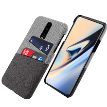 for OnePlus 7 Pro Case Ultra Thin Slim Fitted Back Hard PC Protective Fabric Cloth Cover for One Plus 7 1+7 Pro Card Case Cover