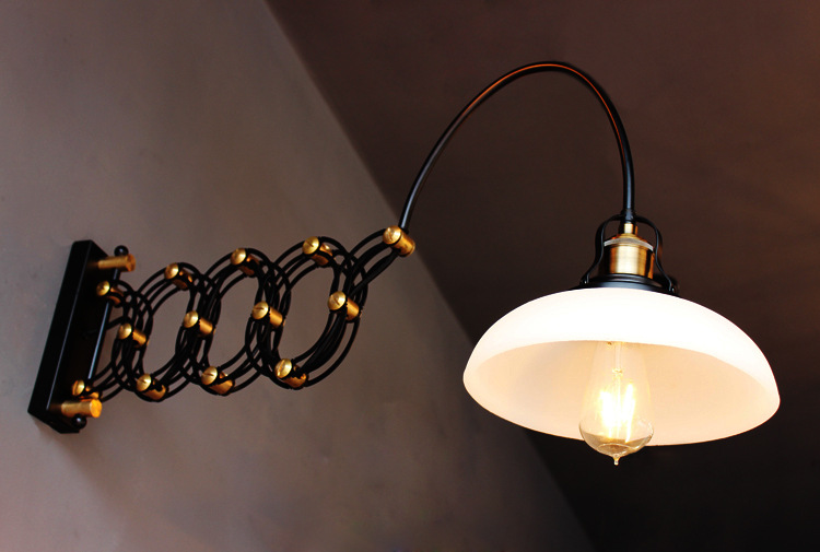 Loften Ретро Телескопический Ресторан настенный светильник искусство Творческий столовая Бар кофе магазин украшения свет Бесплатная доставк