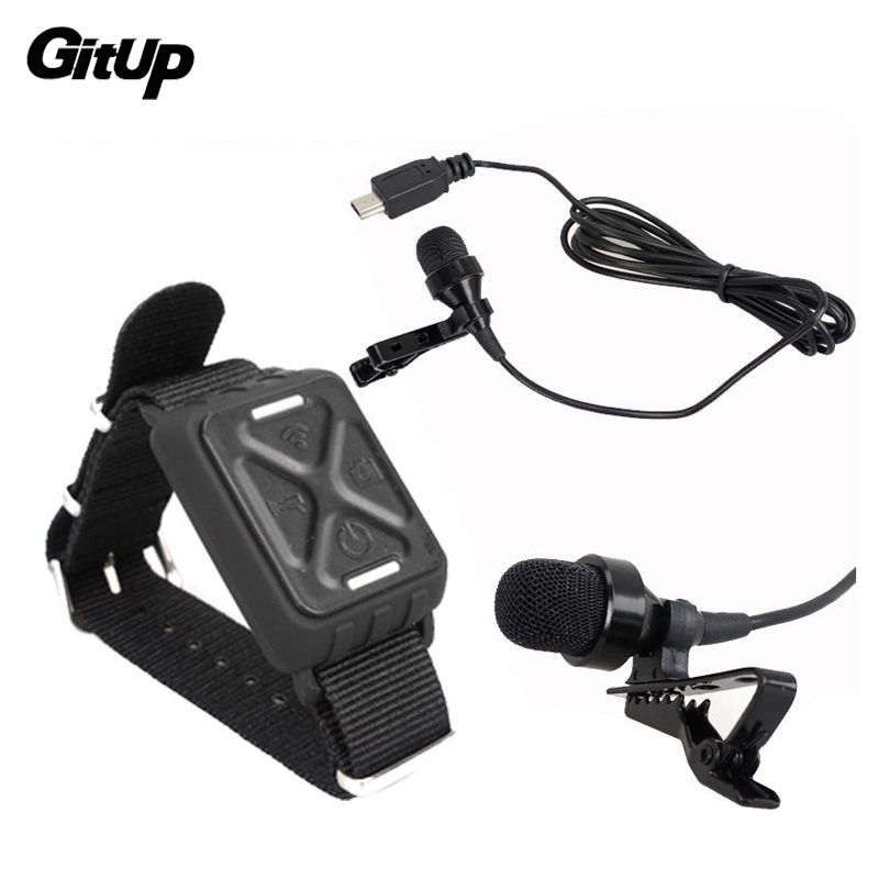 Microphone Mic + Wrist Wifi Remote Control For Gitup Git1 Git2 Sports Action Camera Accessories