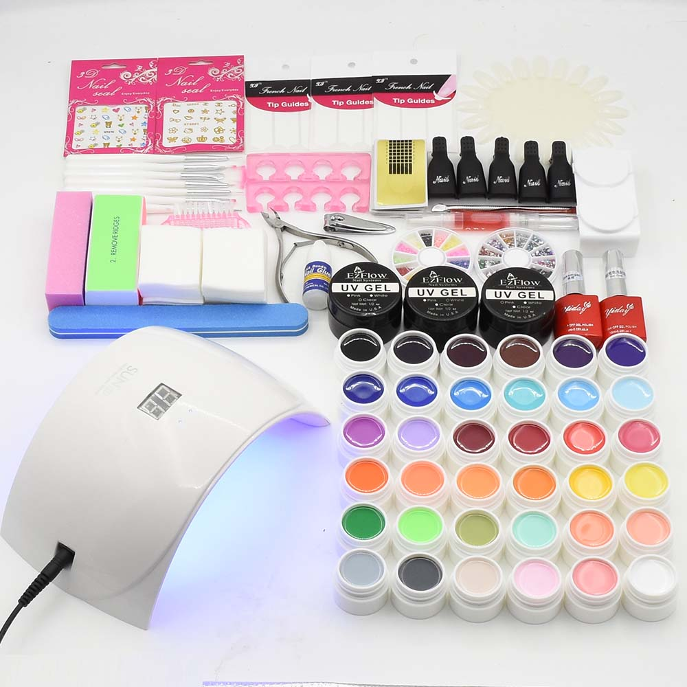 UV LED Lamp Nail Art Set Nail Dryer 36 Color UV Nail Gel Polish UV Gel Varnish Manicure Tools Set UV Extension Gel Nail Kits em 128 free shipping uv gel nail polish set nail tools professional set uv gel color with uv led lamp set nail art tools