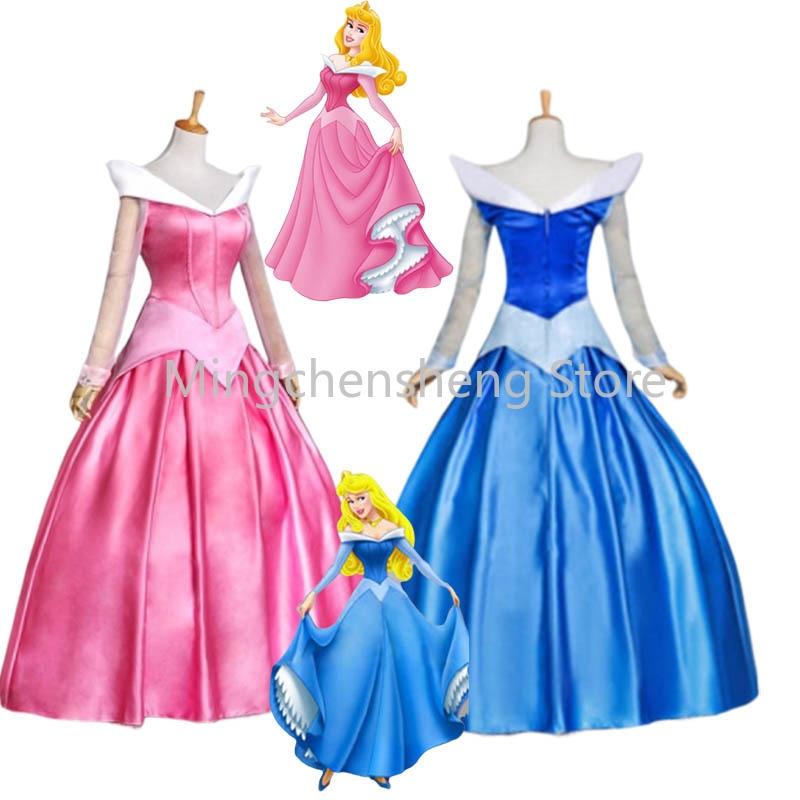 Sleeping Beauty Princess Aurora Party Dress Girls  Costume Dress  K89