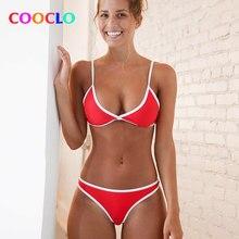 02c11a727be334 2018 Halter Lace Up Bikini Multi Effen Kleur Vrouwen Badmode Trim Laagbouw  Braziliaanse Hoge Cut Been