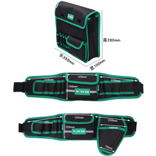 цена на Multifunction Durable Waterproof Canvas Tool Bag Waist Belt Bag Electrician Repair Tool Pouch Organizer
