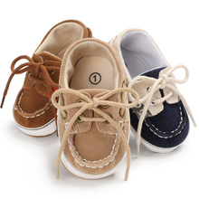 Brand Vintage PU Leather Baby Shoes Non-Slip Newborn Infant