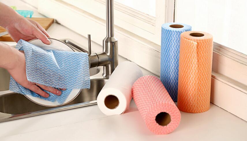 50 Pcs/Roll Eco Friendly Non Woven Duster Cloth Dish Cloth ...