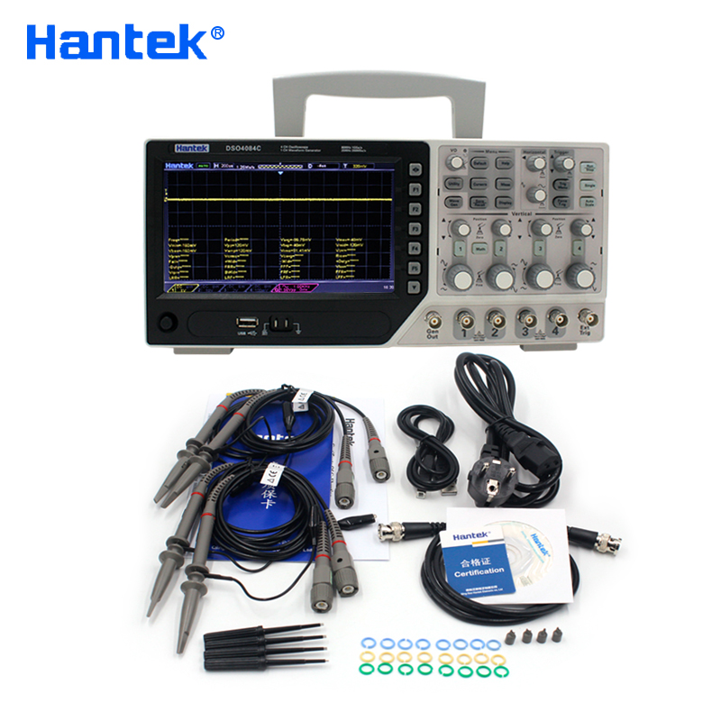 Hantek Official DSO4084C Digital Oscilloscope 80MHz 4 Channels USB PC Osciloscopio +1 Channels Arbitary/function Generator(China)
