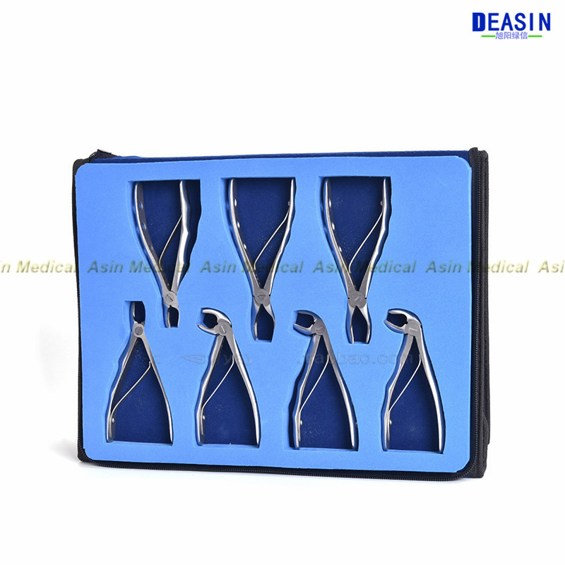 high quality 2018 new Children's tooth forceps set Stainless Steel Extraction Pliers Set dental tools dentist tools 7pcs stainless steel dental forceps children s tooth extraction forcep pliers kit orthodontic dental lab instruments tools