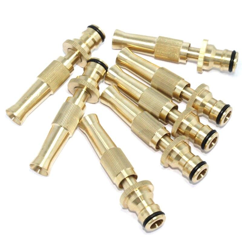 Brass Adjustable spray gun Hose Nozzle High pressure straight copper gun for car wash watering flower garden hose wand